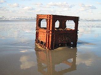Flotsam, jetsam, lagan, and derelict - Flotsam on a beach at Terschelling, Wadden Sea