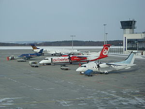 Dresden Airport - Apron overview