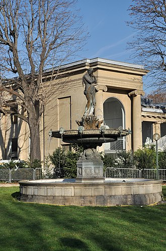 Jardin des Champs-Élysées - The Fontaine des Ambassadeurs, also known as the Fountain of Venus, one of the three original monumental fountains remaining from the reconstruction of the garden by Jacques Ignace Hittorff in 1840.