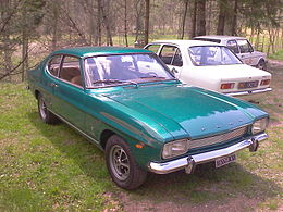 "Una ""Ford Capri 1600 L"" del 1972, costruita in Germania"