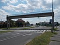 Former pedestrian bridge over the Route 1 without stairs, 2018 Győr.jpg