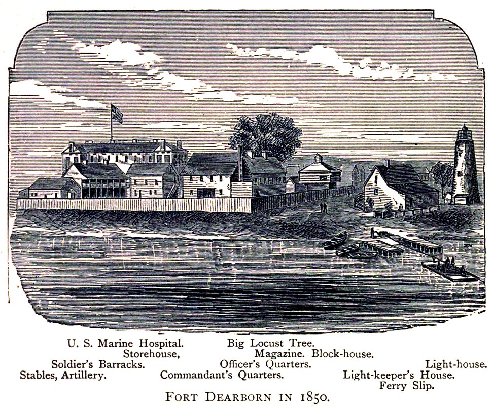 Fort Dearborn in 1850