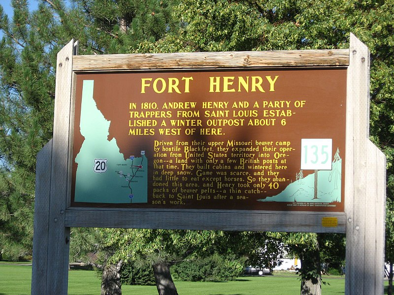File:Fort Henry, Idaho Historical Marker 135, Sugar City, Idaho (1164650105).jpg