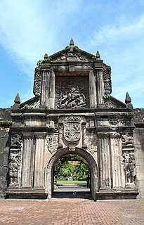 Fort Santiago citadel built by Spanish conquistador for the city of Manila, Philippines