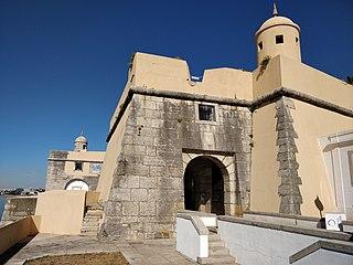 Fort of Santo António da Barra Fort in Estoril, Portugal