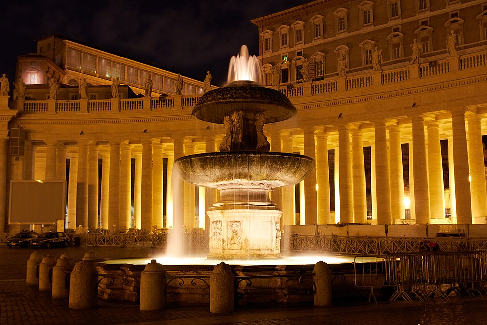 Fountain of Carlo Maderno night