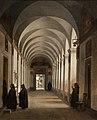 François Marius Granet, Monks in the Cloister of the Church of Gesù e Maria, Rome, 1808 (32147447973).jpg