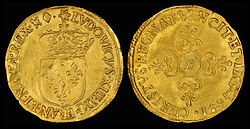 1641 Ecu d'Or, reign of Louis XIII