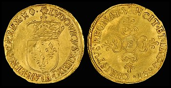 1641 gold écu, minted in the reign of Louis XIII