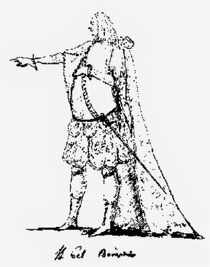 Francesco Borosini - Caricature of Borosini as Bajazet in Handel's Tamerlano