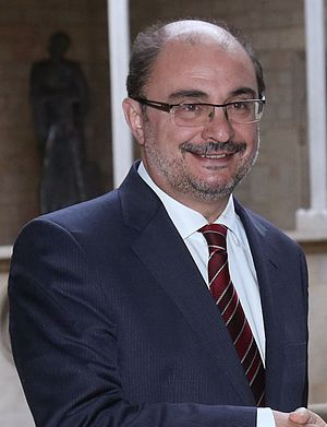 President of the Government of Aragon - Image: Francisco Javier Lambán Carles Puigdemont (cropped)