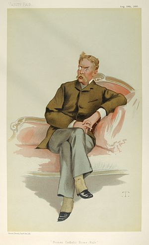 "Frank Hugh O'Donnell - ""Roman Catholic Home-Rule"". Caricature by T published in Vanity Fair in 1880."