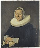 Frans Hals - Portrait of a seated woman holding gloves with a cartwheel ruff.jpg