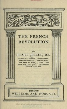 French Revolution (Belloc 1911).djvu