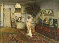 Friedrich Fehr - Interieurbildnis mit weiblichem Aktmodell 1914.jpg