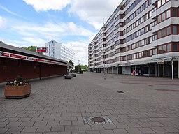 Friskväderstorget i det nordlige Biskopsgården.