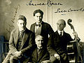 Fritz Kreisler, Harold Bauer, Pablo Casals, and Walter Damrosch at Carnegie Hall in 1904.jpg