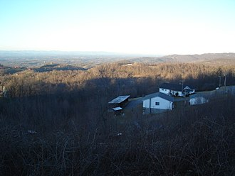 Pores Knob - View from atop Pores Knob, the highest point in the Brushy Mountains.