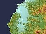 Fukui Plain Relief Map, SRTM-1.jpg