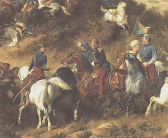 Armand-Octave-Marie d'Allonville - General d'Allonville leading the Chasseurs d'Afrique during the Charge of the Light Brigade