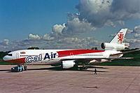G-GCAL DC-10-10 Cal Air International MAN MAY87 (12810888883).jpg
