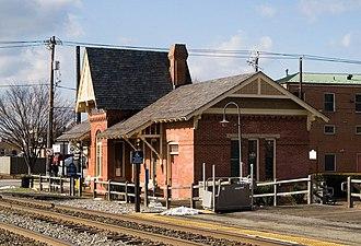 Gaithersburg station - Image: Gaithersburg train station 1