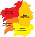 Gallegos en Argentina - Regiones de orígen (2008).png