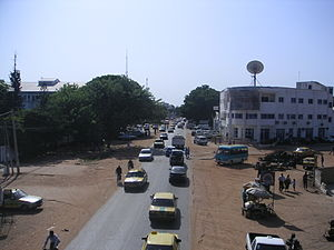 Kairaba Avenue in Latri Kunda, a key suburb of Sere Kunda.