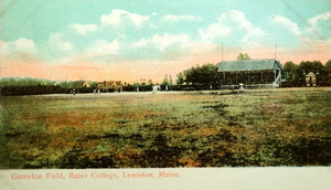 Garcelon Field - Garcelon field at Bates College in Maine in the early twentieth century with the original grandstand