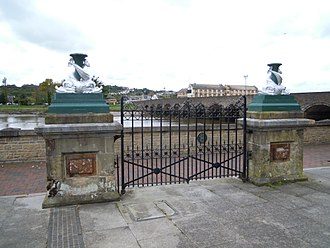 Museum of Barnstaple and North Devon - The gates and gate piers are Grade II listed