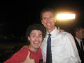 Gavin Newsom and an enthusiastic young adult.JPG