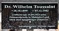 Gedenktafel Hönower Str 13 (Mahld) Wilhelm Toussaint.jpg