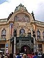Gemeinde- oder Repräsentationshaus - Konzerthalle (Obecní dům) mit französisches Restaurant Francouzská Restaurace, Praha, Prague, Prag - panoramio (1).jpg