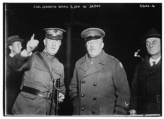 Leonard Wood - Leonard Wood and son Osborne C. Wood, circa 1920.