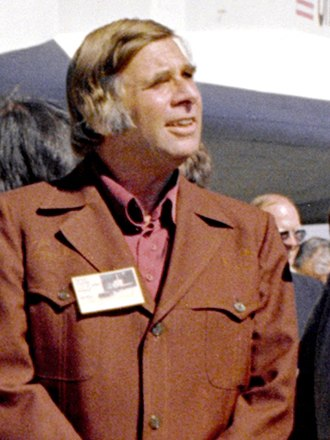 Gene Roddenberry - Roddenberry in 1976, outside the Space Shuttle Enterprise