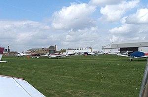 Cambridge Airport - General aviation apron