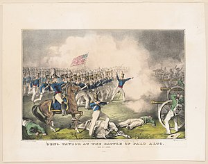 Genl. Taylor at the battle of Palo Alto- May 8th 1846 LCCN2001700089.jpg