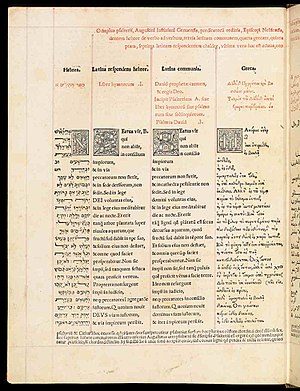 Polyglot (book) - Genoa psalter of 1516, edited by Agostino Giustiniani, Bishop of Nebbio.