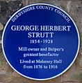 George Herbert Strutt blue plaque.jpg
