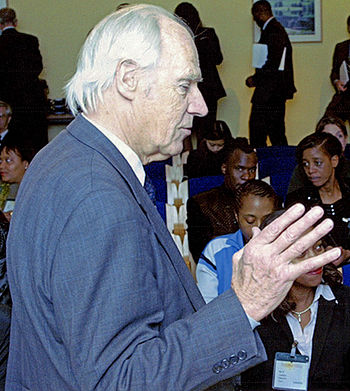 Beatles producer George Martin.