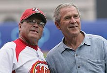 George W Bush with Jim Lefebvre.jpg