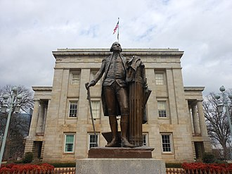 North Carolina State Capitol - Image: George Washington Statue in Raleigh