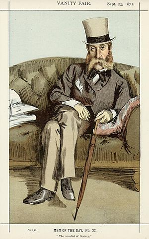 "George Whyte-Melville - ""The novelist of Society"" Whyte-Melville as caricatured by James Tissot in Vanity Fair, September 1871"