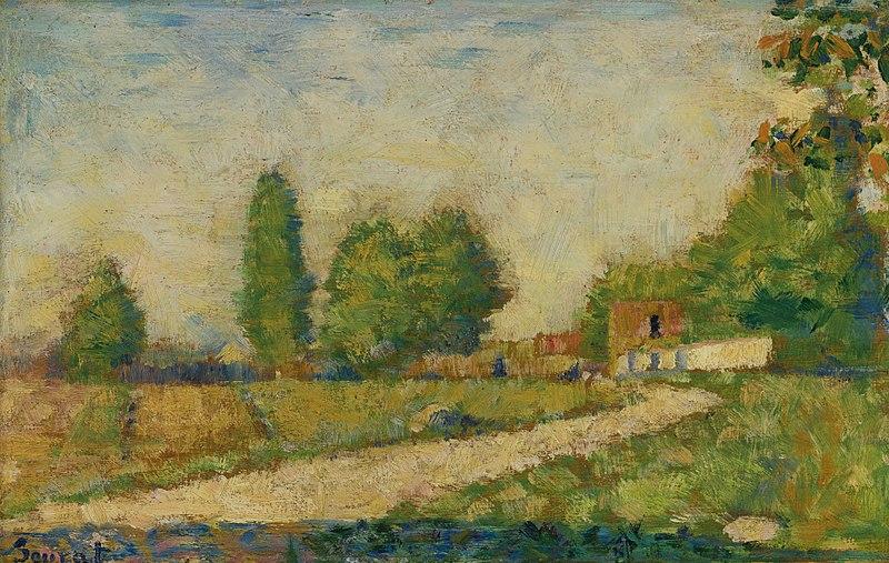 File:Georges Seurat - Au bord du village PC 60.jpg