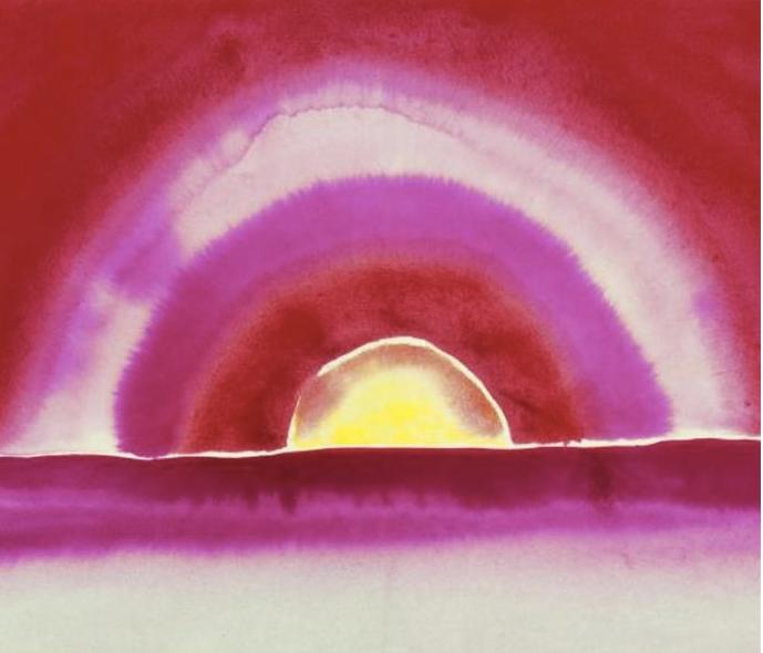 Georgia O'Keeffe, Sunrise, watercolor, 1916