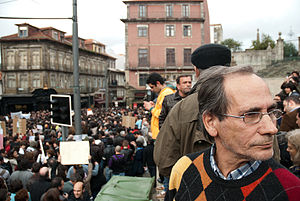 Anti-austerity movement in Portugal - A gathering in Porto