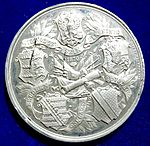 German Medal 1870 Siege of Strasbourg, Alsace, in the Franco-Prussian War (reverse).jpg