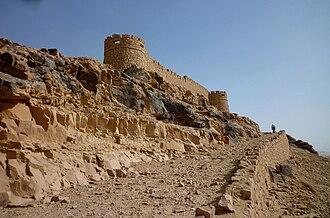 Fortress of Ghat - Image: Ghat Festung Koukemen, im frühen 20. Jahrh. von Italienern erbaut