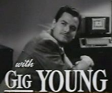O actor estatounitense Gig Young en a cinta Old Acquaintance (1943).