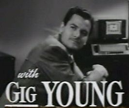 Gig Young in de trailer van Old Acquaintance